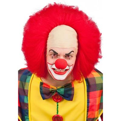 Perruque de Clown Avec Crane
