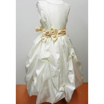 Robe de cérémonie enfant champagne avec boléro