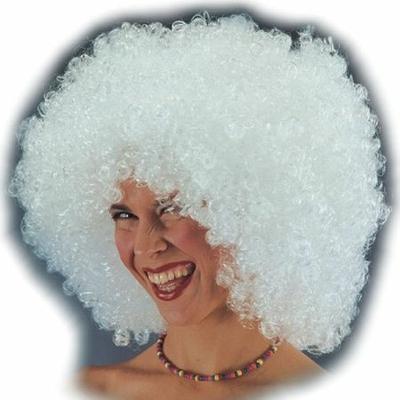 Perruque Bouclée Disco Blanche