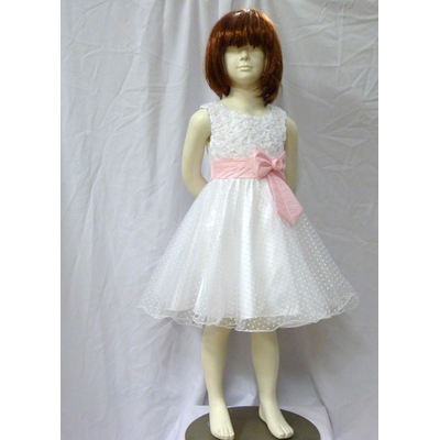 Robe de cérémonie enfant noeud rose