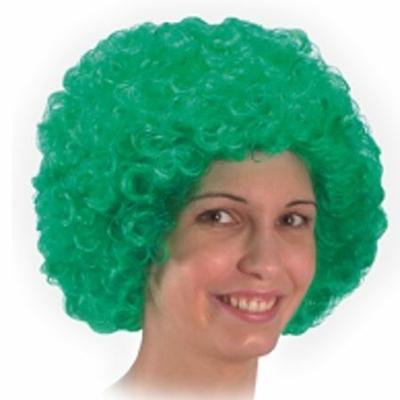 Perruque Pop Bouclée Verte