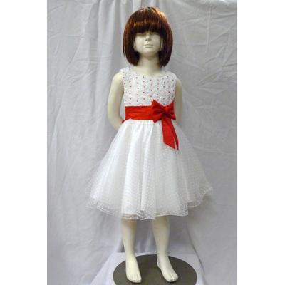Robe de cérémonie enfant noeud rouge