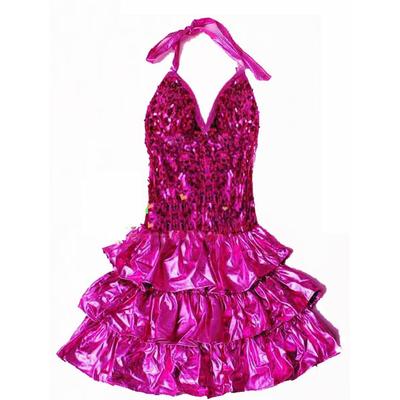 Déguisement robe disco fille fuchsia