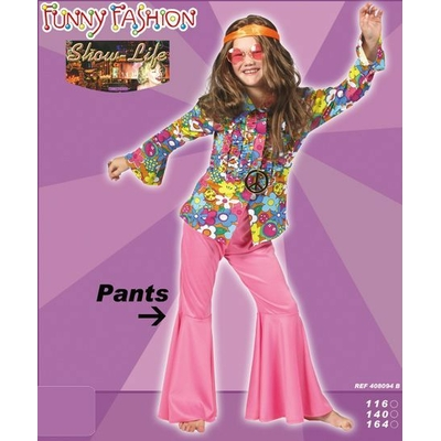 Pantalon Hippie Disco Enfant Rose