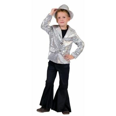 Déguisement Veste Disco à Paillettes Enfant Argent