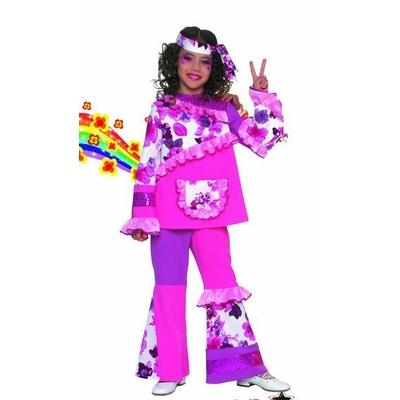 Déguisement Hippie Rose Enfant