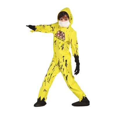 Déguisement combinaison chimique jaune enfant