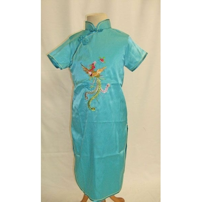 Robe Chinoise Enfant Bleue