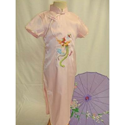 Robe Chinoise Enfant Rose