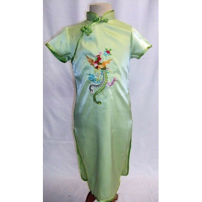 Robe Chinoise Enfant Verte