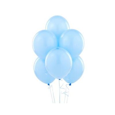 12 ballons latex bleu ciel