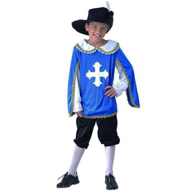 Déguisement mousquetaire enfant bleu