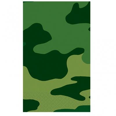 Nappe jetable thème camouflage