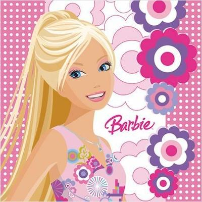 20 Serviettes (33X33 Cm) (2 Plis) - Barbie©
