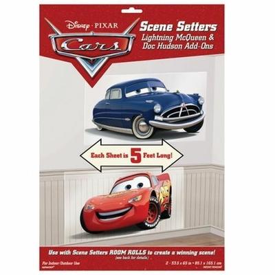 2 Décorations Thème The Cars