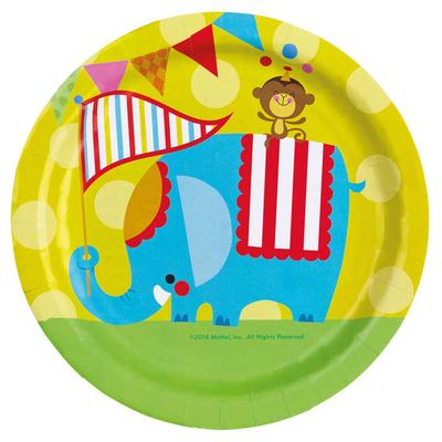 8 assiettes thème cirque