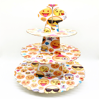 Plateau à cupcake emoticone