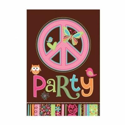 8 Invitations Hippie Chic