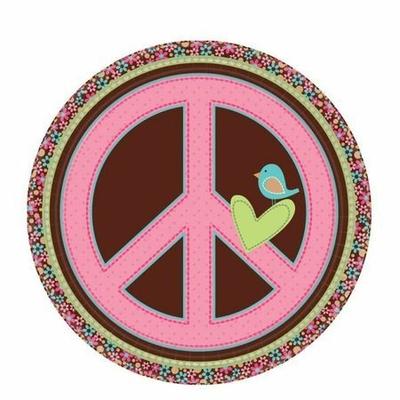 8 Assiettes 22.9 Cm Hippie Chic