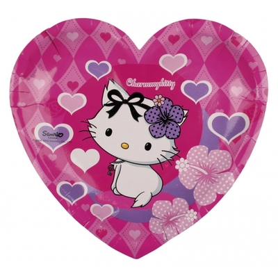 Assiettes coeur Hello Kitty