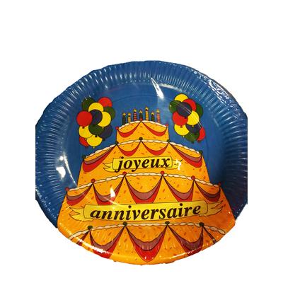 10 assiettes joyeux anniversaire