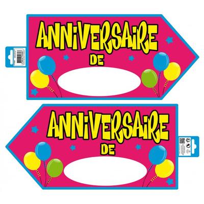 Pancarte signalétique joyeux anniversaire