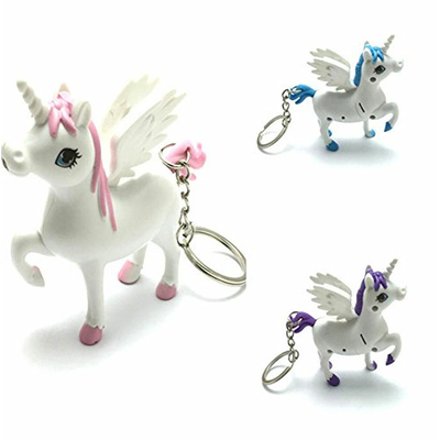 Porte clefs lumineux licorne