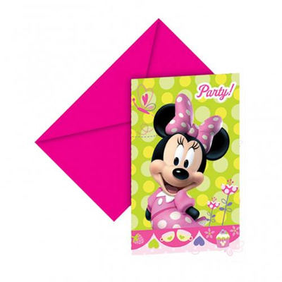 6 cartes d'invitation Minnie