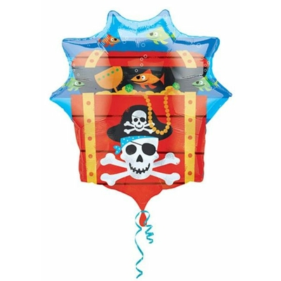 Ballon Géant Coffre de Pirate