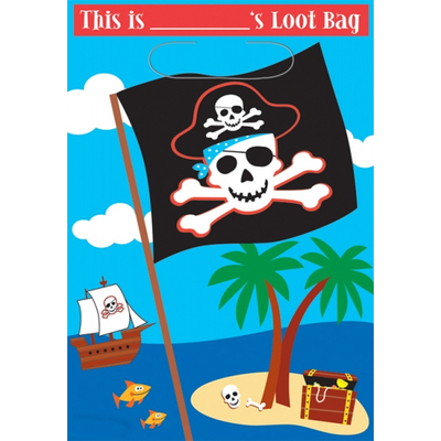8 Sacs à bonbons pirates