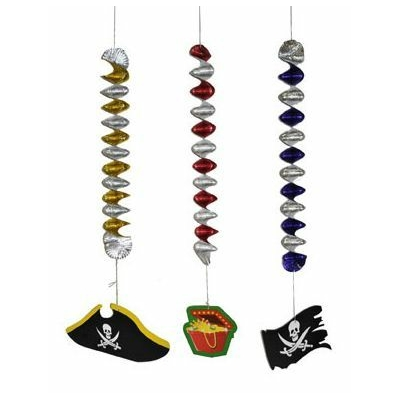 3 Suspensions Thème Pirate