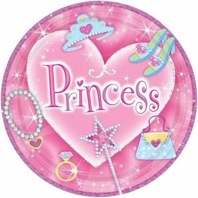 8 Assiettes 28 Cm Princesse