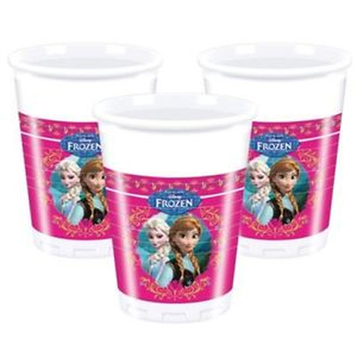 "8 gobelets ""reine des neiges "" Princess Frozen"