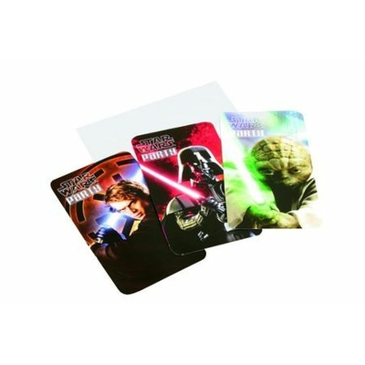 6 Cartons d'Invitation Star Wars