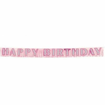 Guirlande Happy Birthday Fuchsia