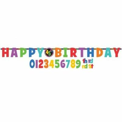 Guirlande Happy Birthday à Personnaliser