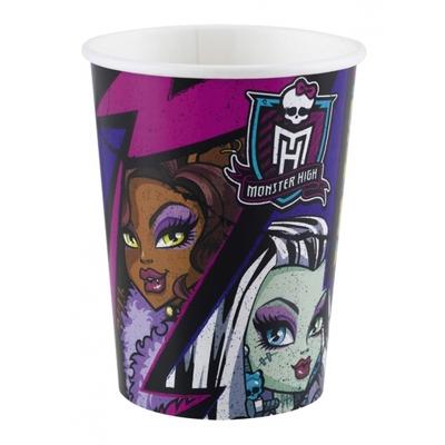 8 verres thème Monster High