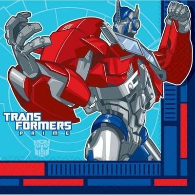 16 Serviettes Thème Transformers