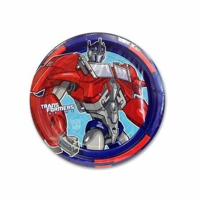 8 Assiettes Thème Transformers