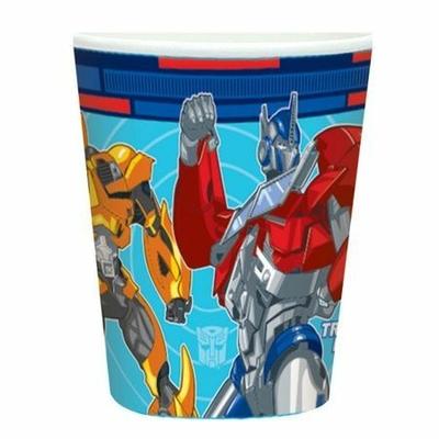 8 Gobelets Jetables Thème Transformers