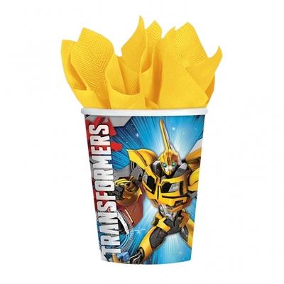 8 verres thème Transformers