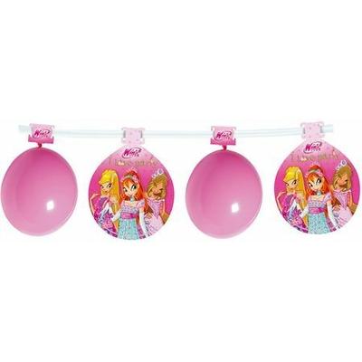 Kit 8 Ballons + Bannière Personnages Winx