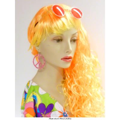Boucles d'oreilles hippie rose