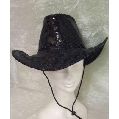 Chapeau Pailleté Noir