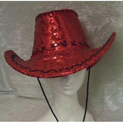 Chapeau Pailleté Rouge