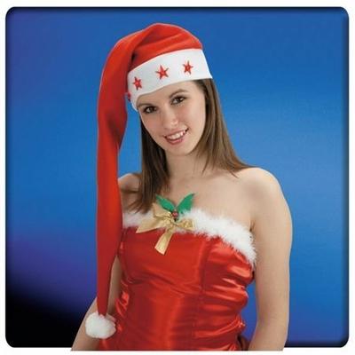 Bonnet de Noël Extra-Long Lumineux