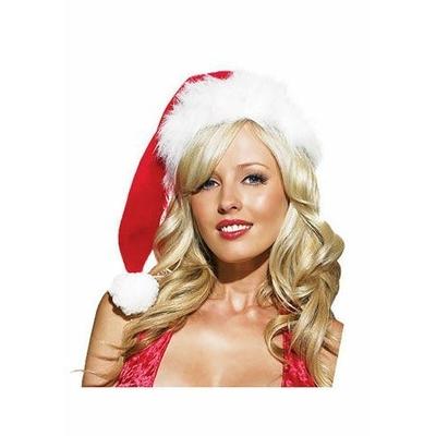 Bonnet de Noël Extra Long En Fourrure