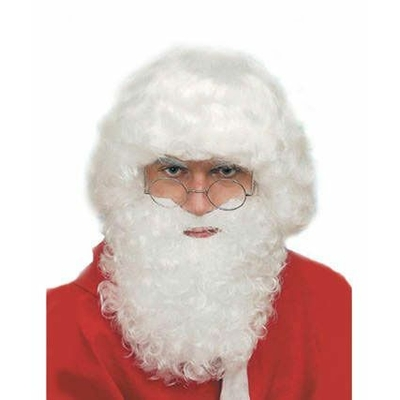 Set Perruque Et Barbe de Père Noël