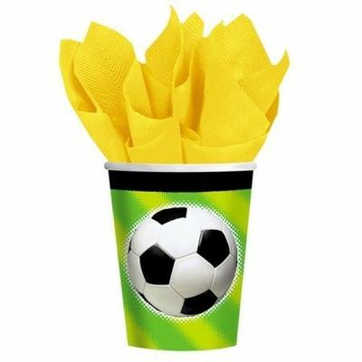 8 Verres Ballon de Football