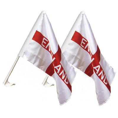 2 drapeaux de portière Angleterre croix de St Georges